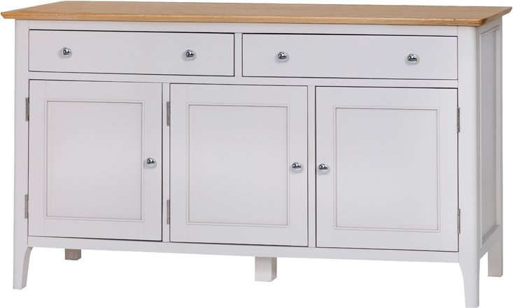 Photo of Daniella 3 door 2 drawer oak and grey sideboard