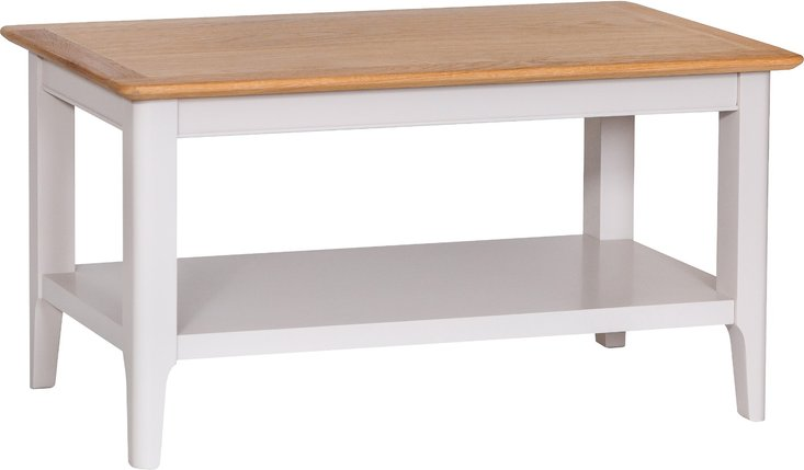 Photo of Daniella oak and grey small coffee table