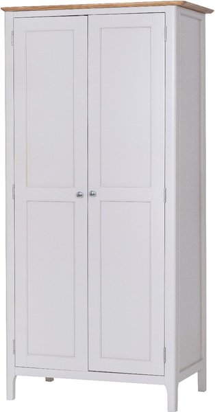 Photo of Daniella oak and grey 2 door wardrobe