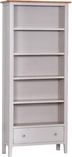 Photo of Daniella oak and grey large bookcase