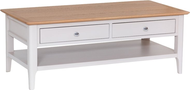 Photo of Daniella oak and grey large coffee table