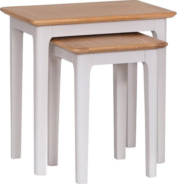 Photo of Daniella oak and grey nest of 2 tables