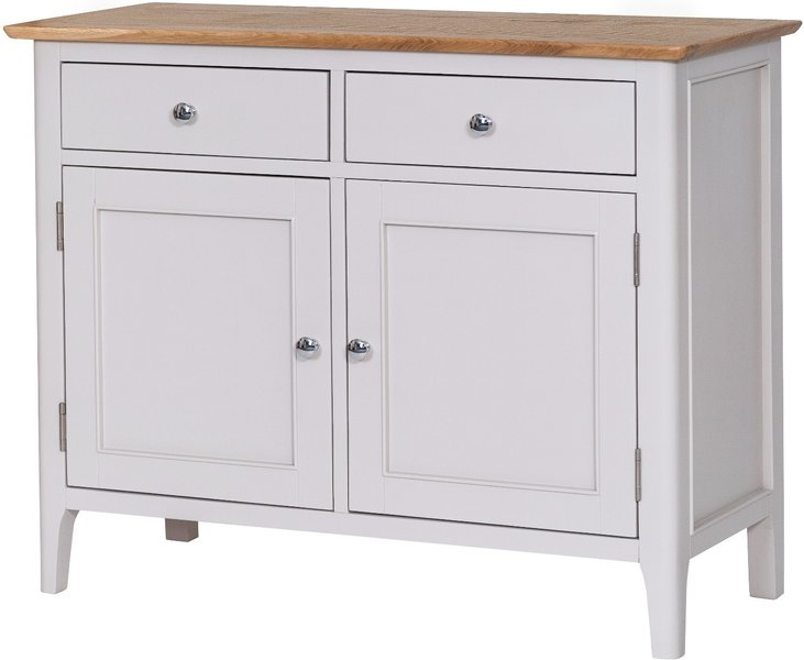 Photo of Daniella 2 door 2 drawer oak and grey sideboard