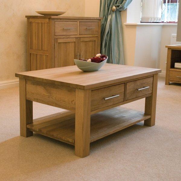 Rohan oak two-drawer coffee table