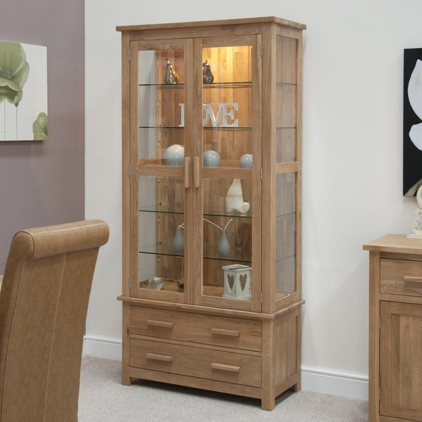 Photo of Rohan oak and glass display cabinet