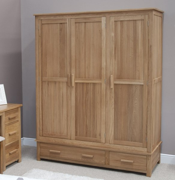 Photo of Rohan oak triple wardrobe