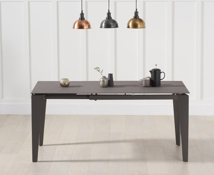 Photo of Victoria 120cm extending brown stone dining table