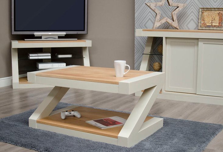 Photo of Infinity painted natural top coffee table