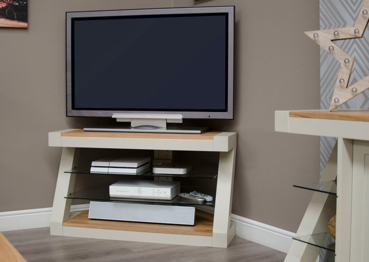 Photo of Infinity painted natural top corner tv unit