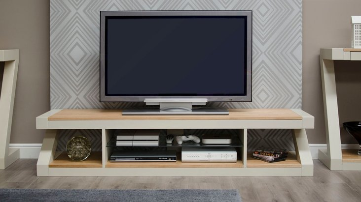 Photo of Infinity painted natural top large tv cabinet