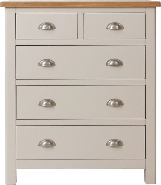 Photo of Fay oak and grey 2 over 3 drawer chest