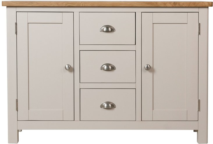 Photo of Cole oak and grey large sideboard