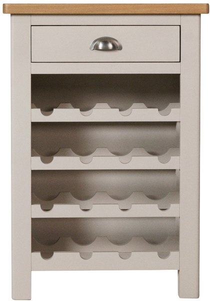 Photo of Cole oak and grey wine cabinet