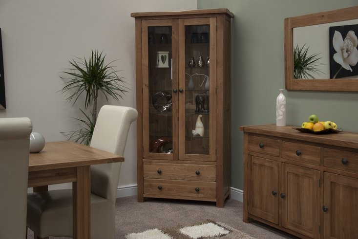 Photo of Bramley oak glass display cabinet