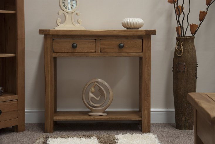 Photo of Bramley oak console table
