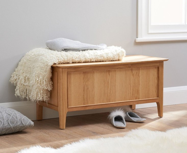 Photo of Sadie oak blanket box