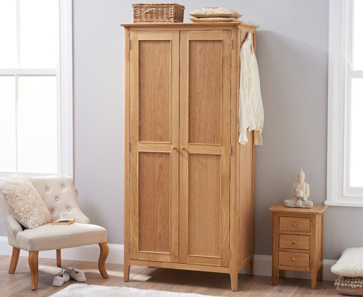 Photo of Sadie oak two door wardrobe