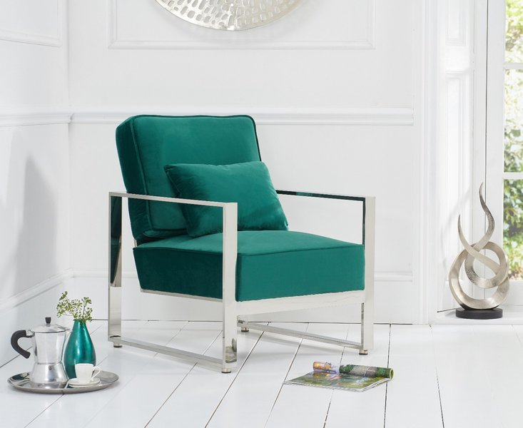 Photo of Sloane green velvet accent chair