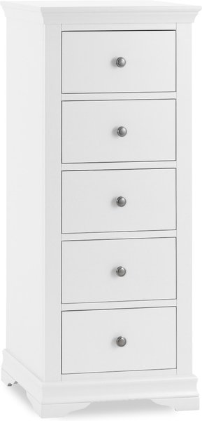 Photo of Brooklyn white 5 drawer wellington chest
