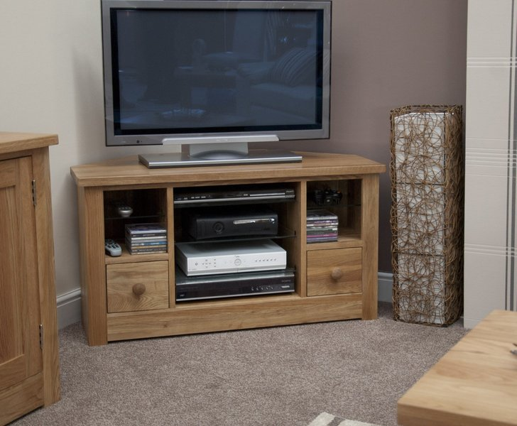 Photo of Messina oak corner tv cabinet