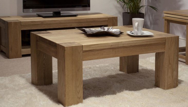 Photo of Milan 120cm oak 4x2 coffee table