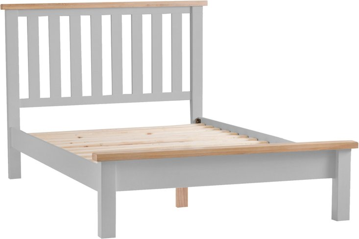 Photo of Willow oak and grey double bed frame