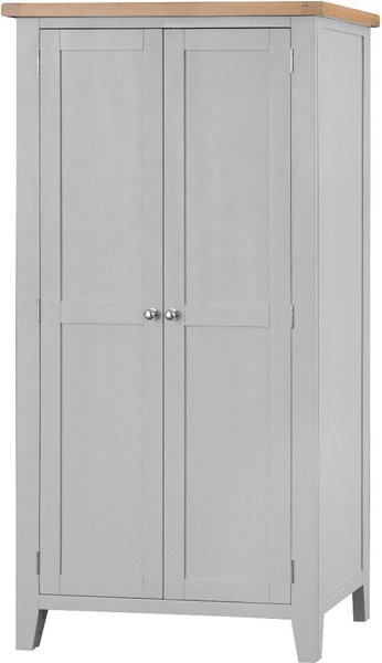 Photo of Willow oak and grey 2 door wardrobe