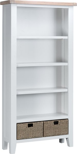 Photo of Eden oak and white large bookcase
