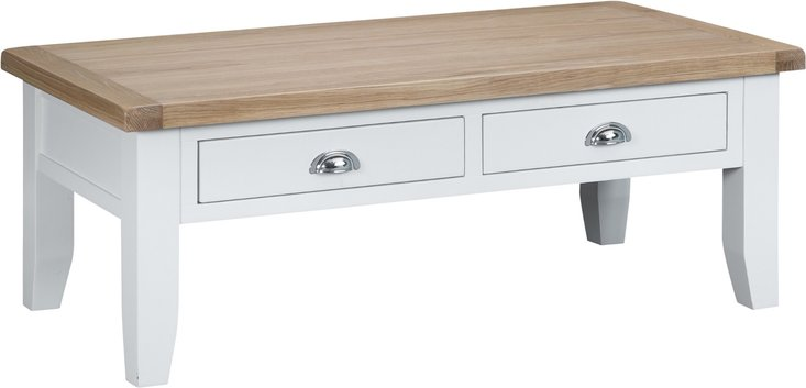 Photo of Eden oak and white large coffee table