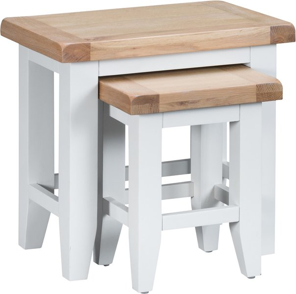 Photo of Eden oak and white nest of 2 tables