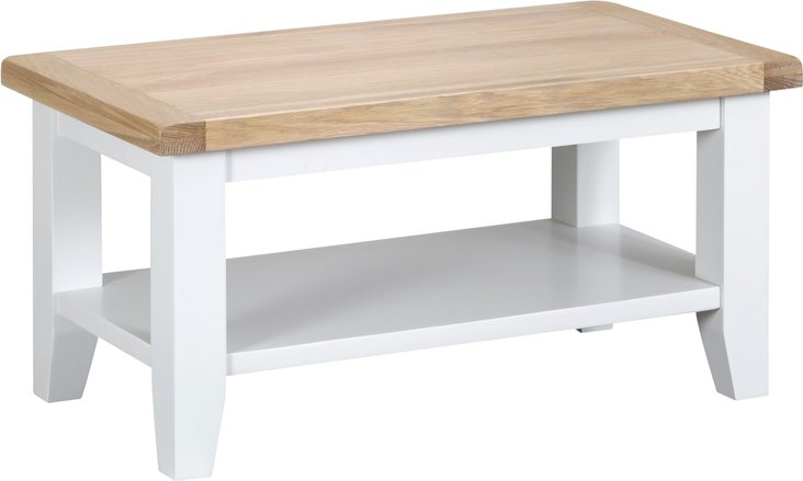 Photo of Eden oak and white small coffee table