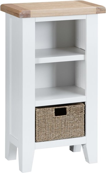 Photo of Eden oak and white narrow bookcase