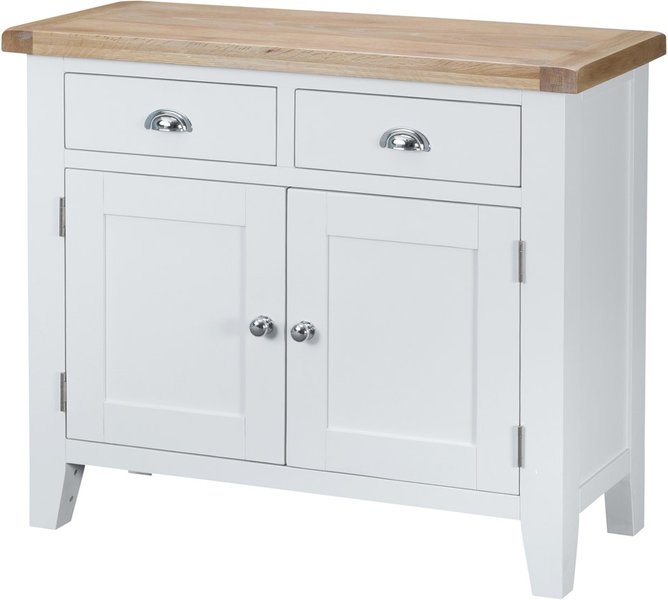 Photo of Eden 2 door 2 drawer oak and white sideboard