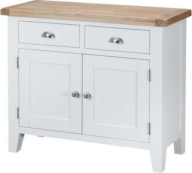 Photo of Eden 2 door 2 drawer oak and white sideboard