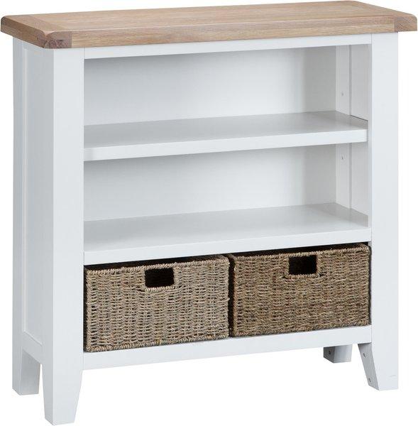 Photo of Eden oak and white small bookcase