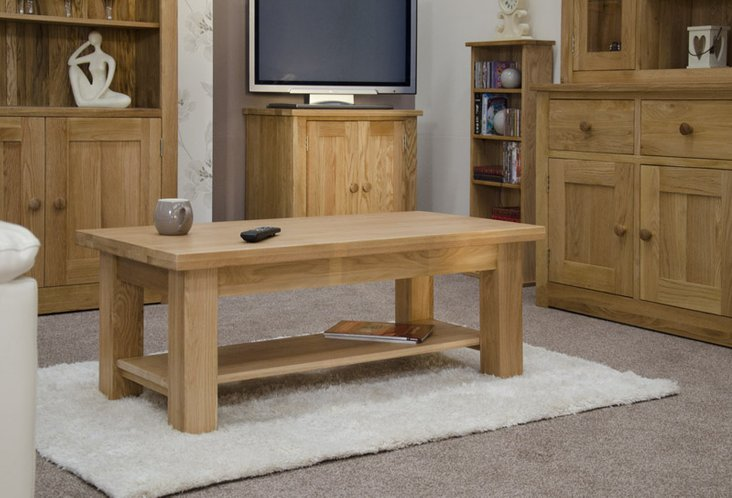 Photo of Messina 90cm oak coffee table