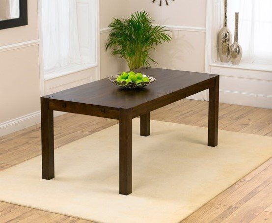 Photo of Verona 180cm dark oak dining table