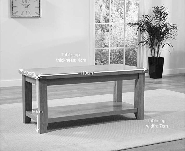 Yateley oak coffee table