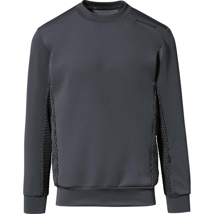 Artikel klicken und genauer betrachten! - Ein Sweatshirt, das auf den ersten Blick Vorwärtsdrang signalisiert: technisch im Look, extrem scharf und präzise im Schnitt, aus High-Tech-Material gefertigt. | im Online Shop kaufen