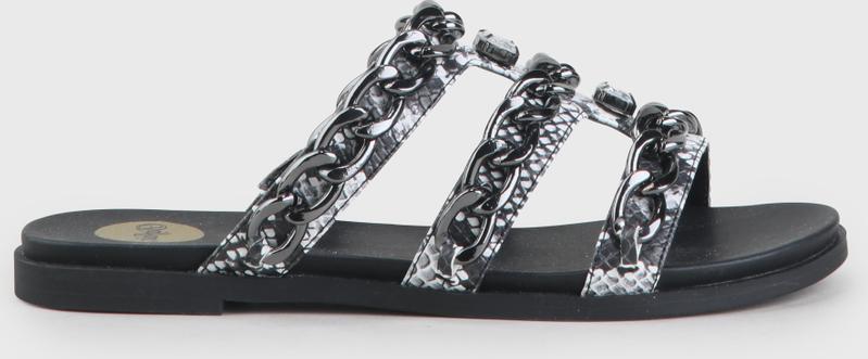 Artikel klicken und genauer betrachten! - Die Jannele Sandale ist in einer zeitlosen Schwarz-Weiß-Farbkombi gehalten und setzt den angesagten Snake-Trend gekonnt um. Mit ihrem aufsehenerregenden Design macht sie jeden Deiner Streetstyle-Outfits zu einem Fashion-Volltreffer und ist dank der hochwertigen Verarbeitung und angenehmen Passform auch noch super bequem. Ob zu luftigen Sommerkleidern oder lässigen Denim-Looks, Dein neuer Favourite macht jeden Spaß mit! | im Online Shop kaufen
