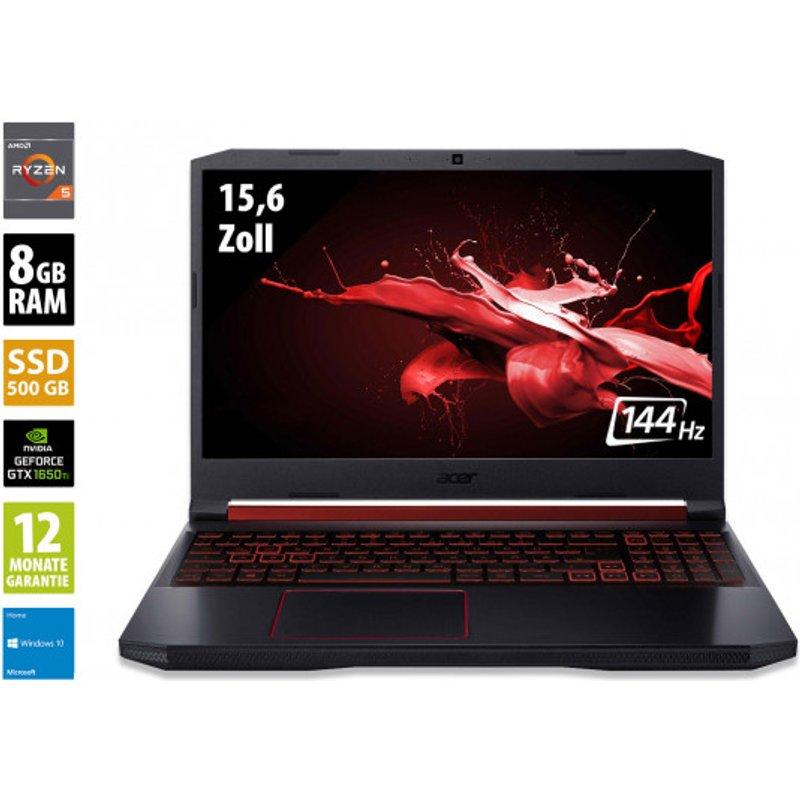 Acer Nitro 5 - 15,6 Zoll - AMD Ryzen 5 4600H @ 3,0 GHz - 8GB RAM - 500GB SSD - Nvidia GeForce GTX 1650 Ti - FHD 144Hz (1920x1080) - Webcam - Win10Home