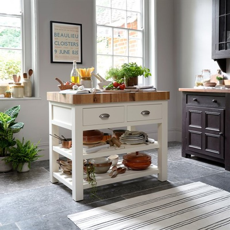 Sussex Painted Kitchen Island 599 00 Go Furniture Co Uk