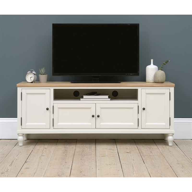 Photo of Marlow Pale Grey Low And Wide Tv Unit Up To 70