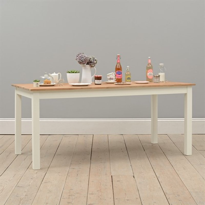 Photo of Portobello Painted 180cm Fixed Top Dining Table