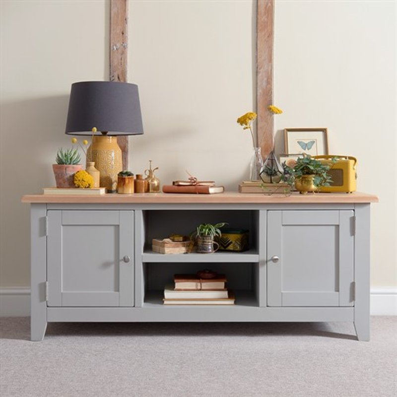 Photo of Chester Dove Grey Widescreen Tv Unit - Up To 65
