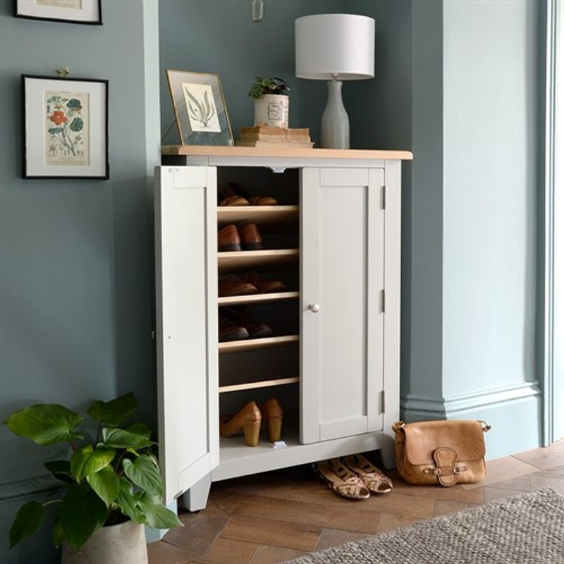 Photo of Chester Dove Grey Large Shoe Cupboard
