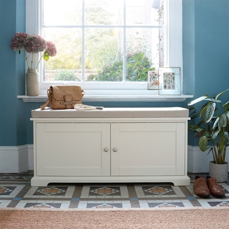 Photo of Farmhouse Painted Hidden Shoe Storage Bench