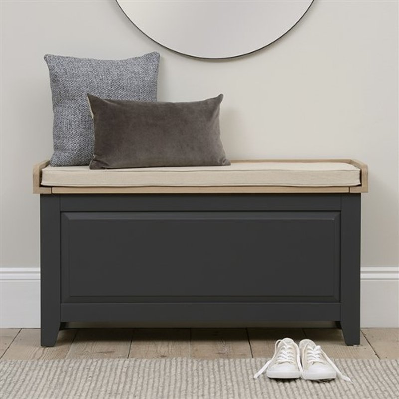 Photo of Chester Charcoal Large Shoe Storage Trunk And Bench
