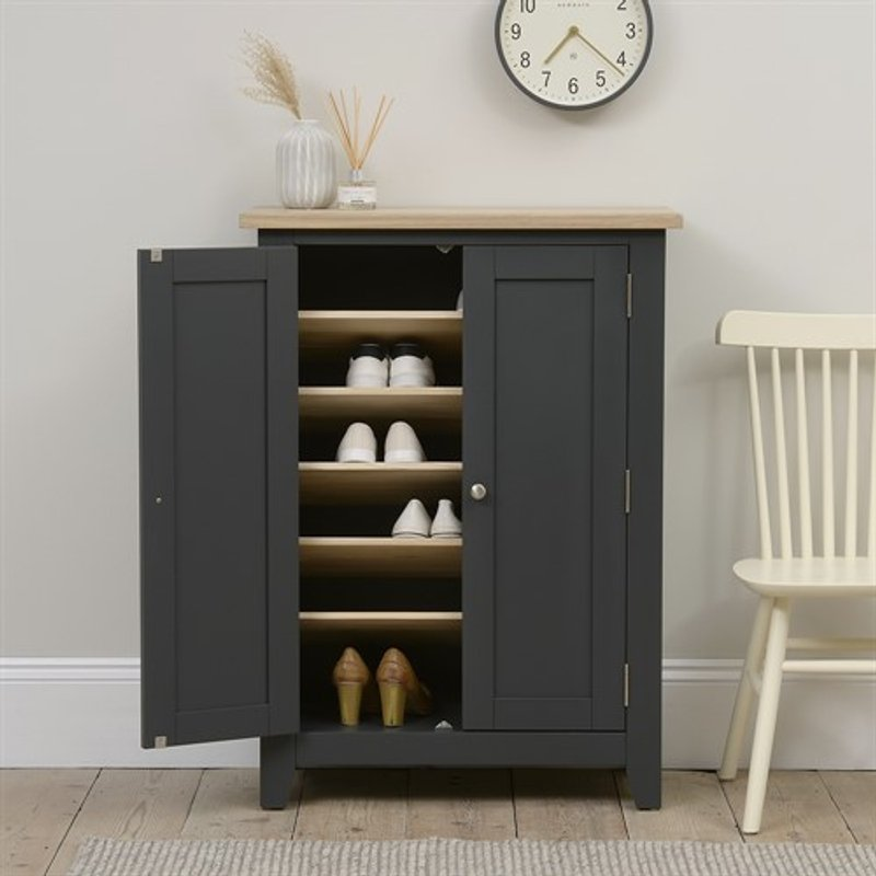Photo of Chester Charcoal Large Shoe Cupboard