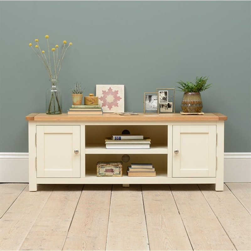 Photo of Sussex Cotswold Cream Widescreen Tv Unit - Up To 60